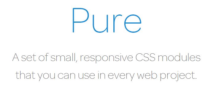 Pure CSS framework