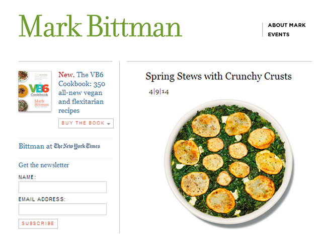 Mark Bittman personal Health blog