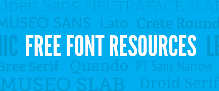 get free font resources