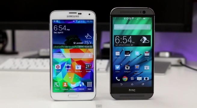 the htc one m8 vs galaxy s5