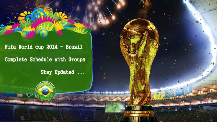 Fifa world cup 2014 complete schedule