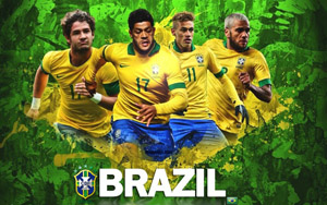 Brazil team for football world cup 2014