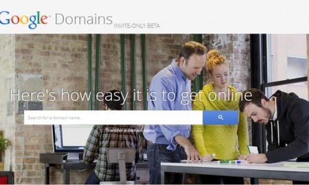 Google domain registration service