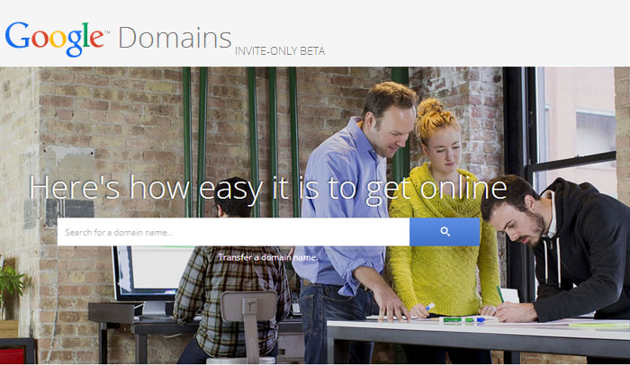 Google domain registration service
