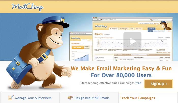 Mail Chimp top email marketing tool
