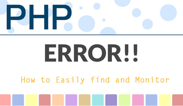 Monitor PHP errors