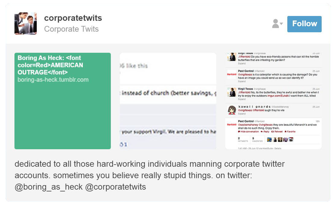 Corporate Twits