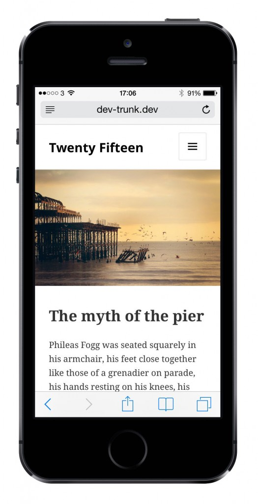Twenty Fifteen Responsive WordPress Theme