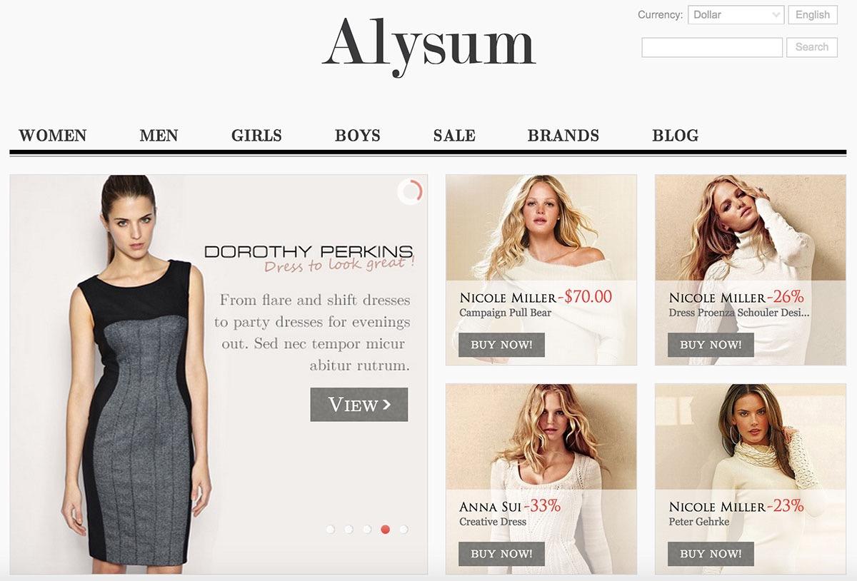 Alysum Responsive PrestaShop template