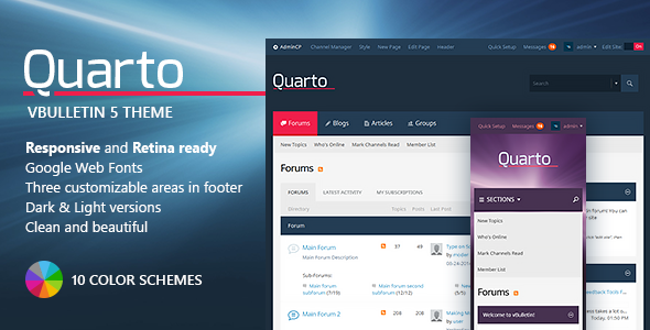 Quarto responsive vbulletin 5 connent
