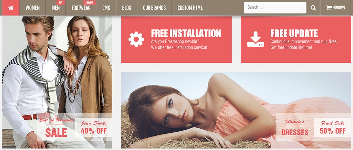 Vela Multipurpose Prestashop template