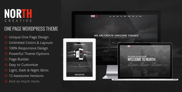 North- One Page Parallax WordPress Theme