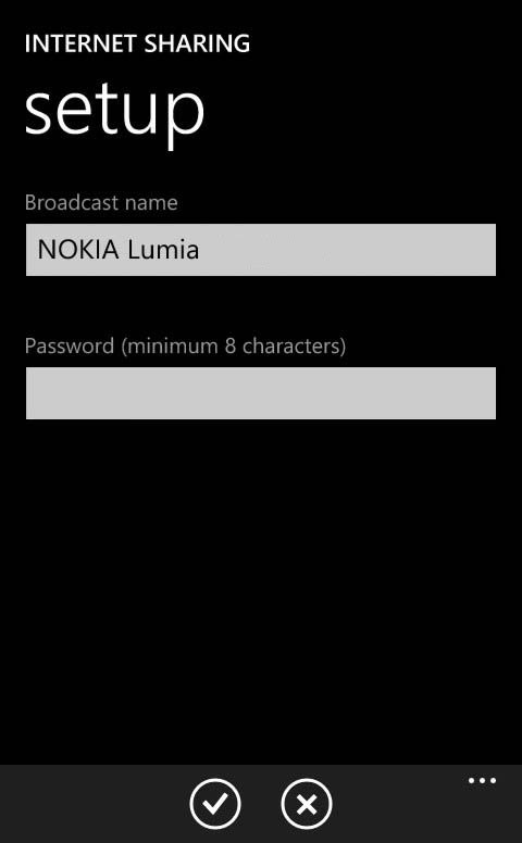 Windows Phone Mobile Hotspot