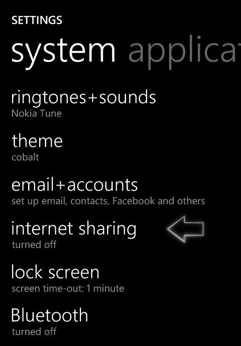 Windows Phone as Wifi router
