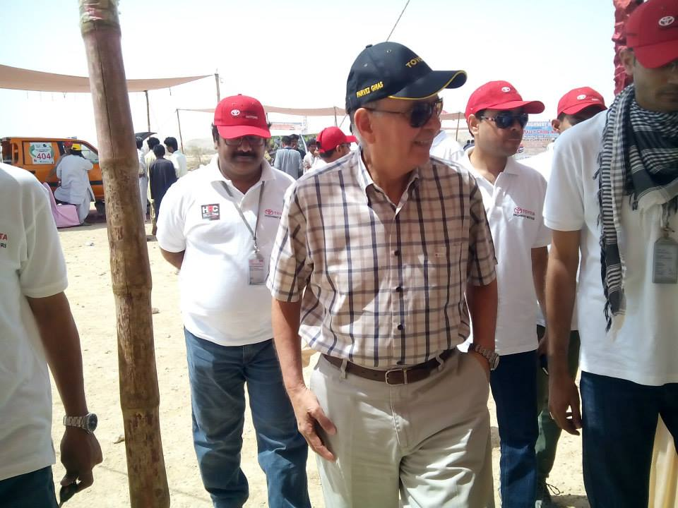 Mr Pervaiz Ghias in 2nd Hub Rally 2015